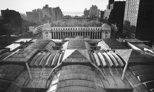 Original Pennsylvania Station Roof and the Farley Building, photo by Norman Mcgrath