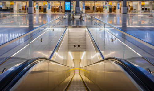 A Seamless Travel Experience - The Train Hall features dedicated escalator and elevator access for each platform serving passengers of all abilites.